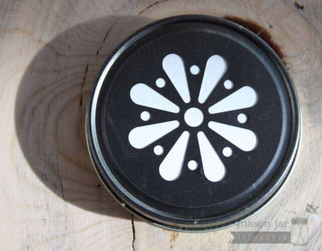 Vintage pewter daisy lid for Mason jars top