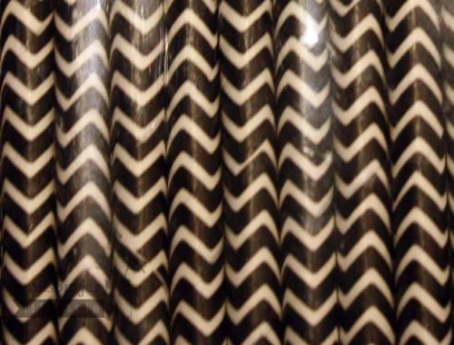 Black #6 Chevron Biodegradable Paper Party Straw