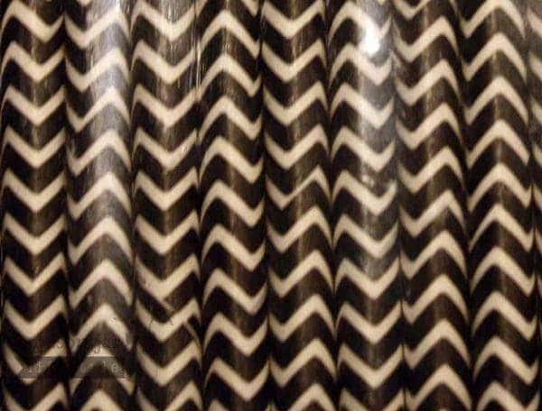 Black #6 Chevron Biodegradable Paper Party Straw