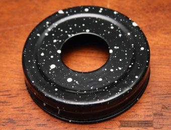 Black speckled soap pump dispenser adapter for regular mouth Mason jars