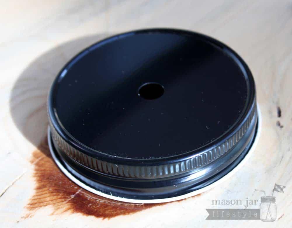 Straw Hole Tumbler Lids For Regular Mouth Mason Jars
