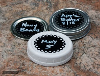 2 Inch round eyelet chalkboard stickers 3 kinds of regular mouth lids
