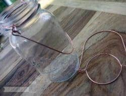 Copper colored wire handles for regular mouth Mason jars 2 pack
