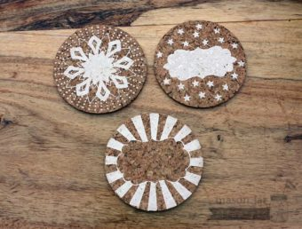 Printed cork label lid inserts for wide mouth Mason jars 3 pack