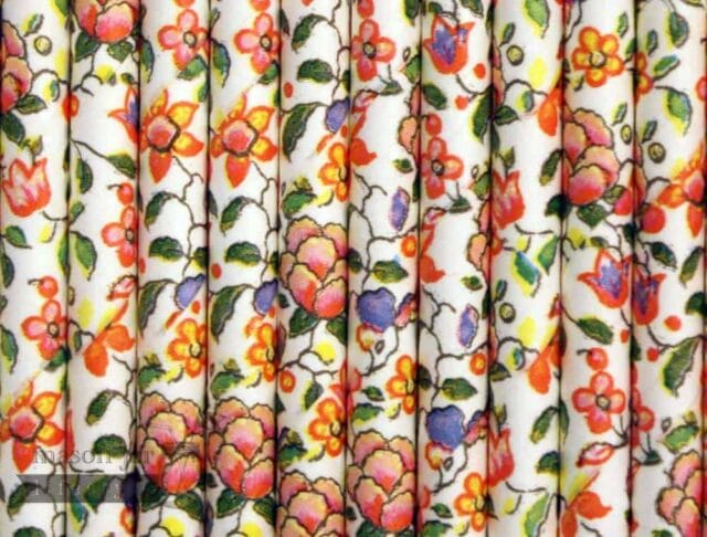 Flowers Floral #4 Biodegradable Paper Party Straw