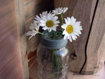 Galvanized metal chicken wire frog lid for regular mouth Mason jars with flowers