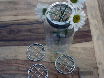 Shiny crinkly frog lids for regular mouth Mason jars 4 pack