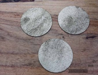 Glitter lid inserts for wide mouth Mason jars 3 pack