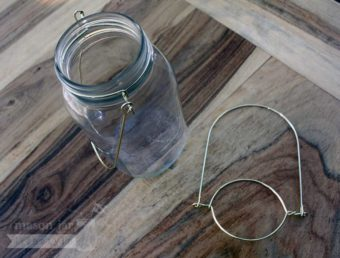 Gold colored wire handles for regular mouth Mason jars 2 pack