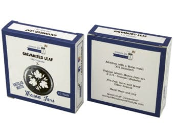 Mason Jar Lifestyle Galvanized leaf lid inserts for regular mouth Mason jars box