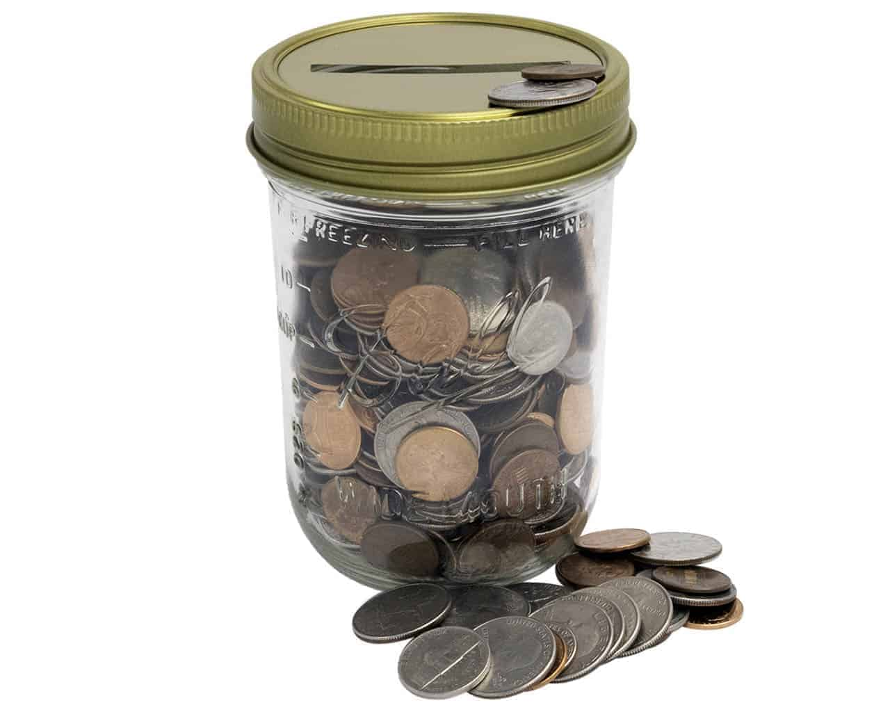 coin slot jar lids