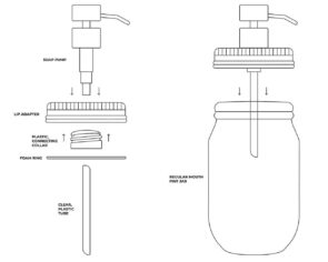 How to assemble a Mason Jar Lifestyle soap pump dispenser lid kit