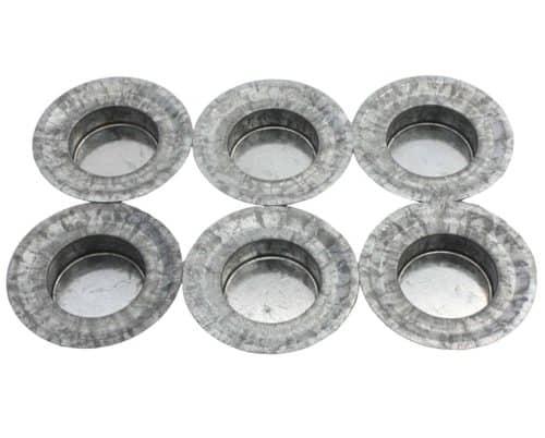 Mason Jar Lifestyle Tea light candle holder galvanized metal lid inserts for regular mouth Mason jars