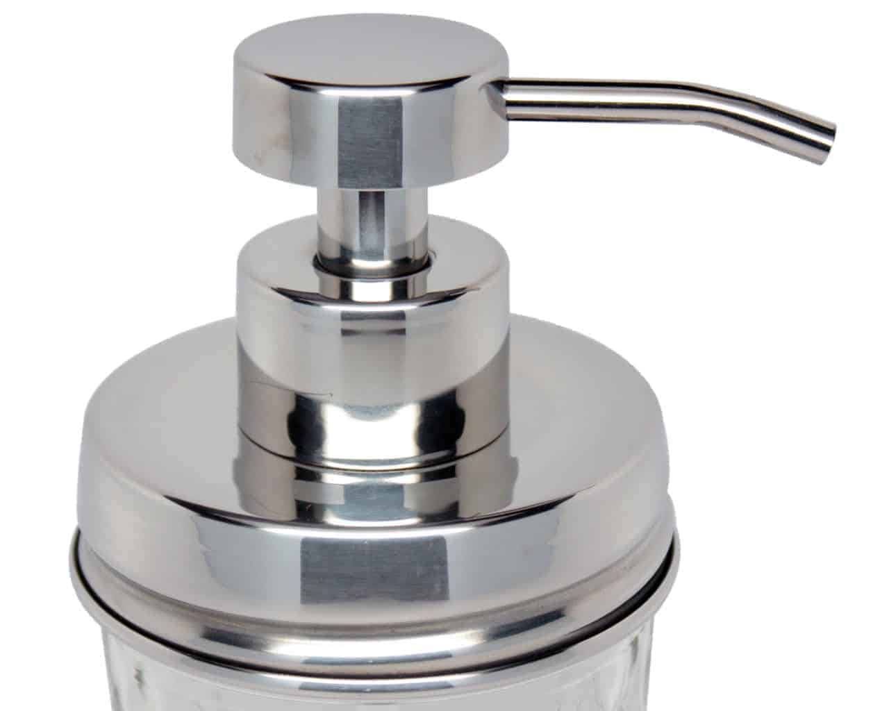 Mirror Chrome Soap Pump Dispenser Lid Adapter For Rm Mason