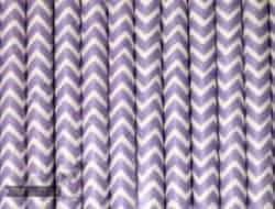 Purple #2 Chevron Biodegradable Paper Party Straw