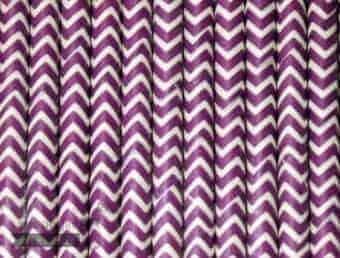 Purple #4 Chevron Biodegradable Paper Party Straw