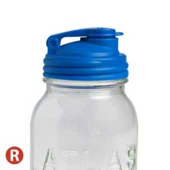 Deep blue Recap pour spout lid for regular mouth Mason jars