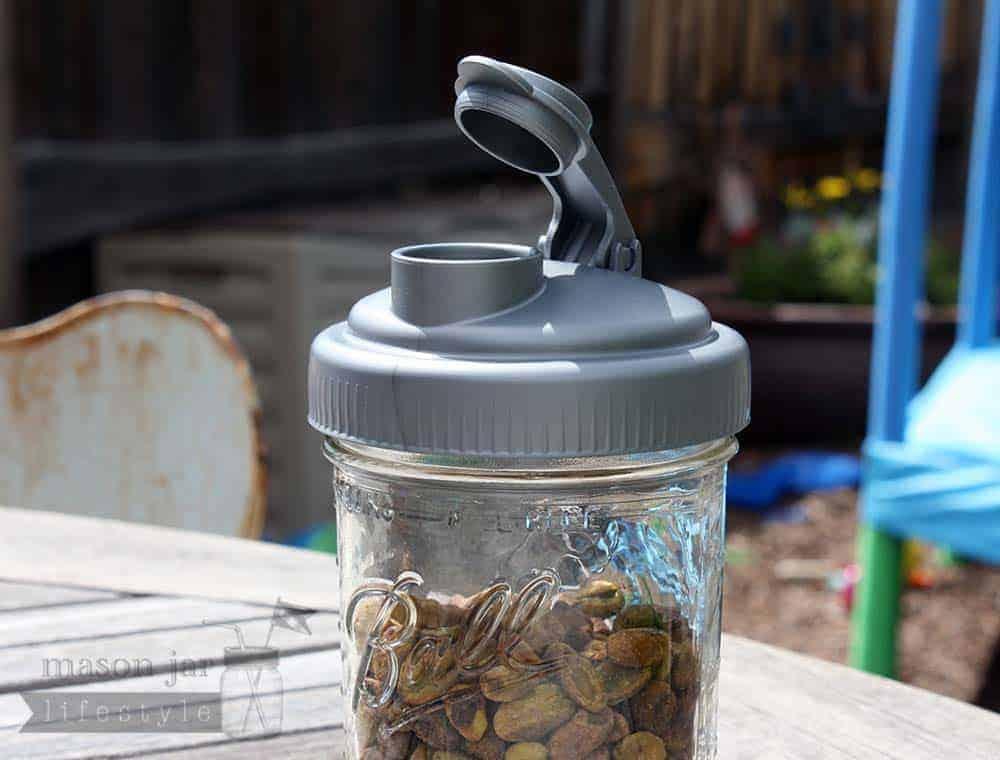 recap pour spout lid for mason jars. Black Bedroom Furniture Sets. Home Design Ideas