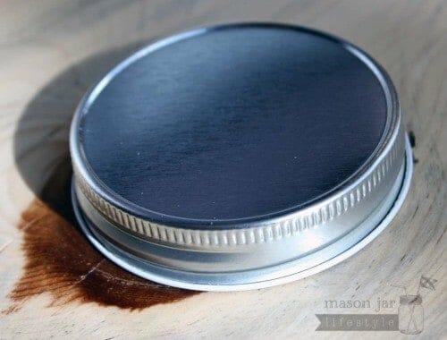 Shiny silver regular mouth Mason jar storage lid