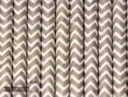 Silver #6 Chevron Biodegradable Paper Party Straw