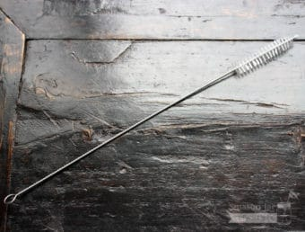 Reusable straw cleaner for stainless steel, glass, and plastic straws