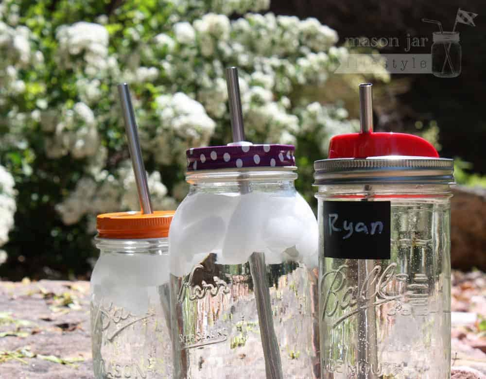 Long Thick Stainless Steel Smoothie Straws For Quart Mason