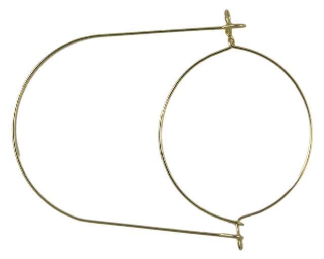 Gold stainless steel wire handle / hanger for wide mouth Mason jars