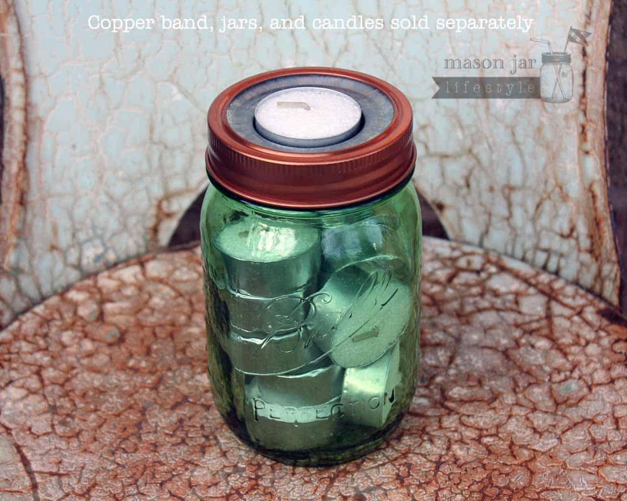 Tea Light Holder Metal Lid Insert For Regular Mouth Mason Jars