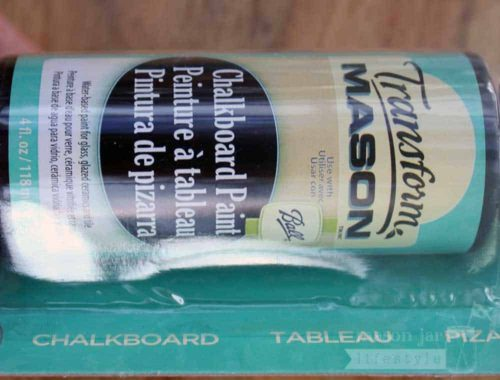 Transform Mason chalkboard paint for Mason jars