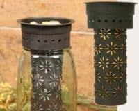 Pinwheel pattern Mason jar wax warmer