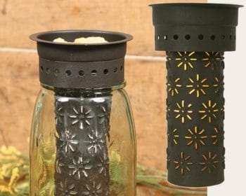 Pinwheel pattern Mason jar wax warmer