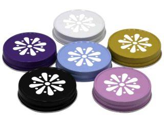 white-purple-blue-yellow-black-pink-daisy-lid-regular-mouth-mason-jar-made-in-usa-5