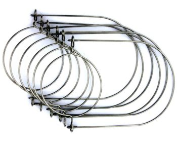 Stainless steel rust proof wire handles hangers for hanging regular mouth Mason jars