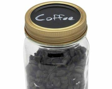 chalkboard-top-lid-insert-regular-mouth-mason-kerr-mason-jar-coffee-beans-copper-band