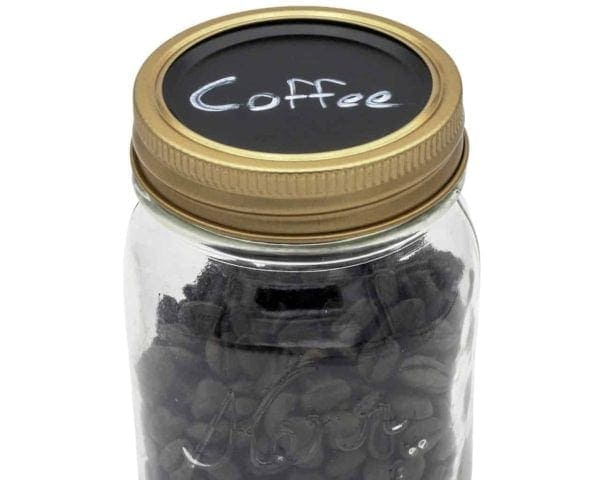 chalkboard-top-lid-insert-regular-mouth-mason-kerr-mason-jar-coffee-beans-copper-band