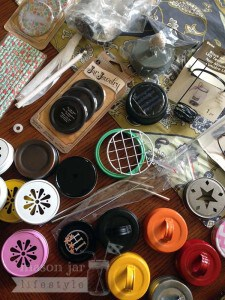 Hope's box of assorted Mason jar accessories