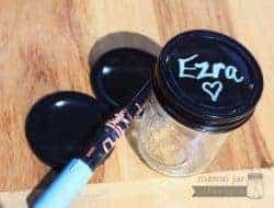 Chalkboard lids for regular mouth Mason jars with Bistro chalk marker
