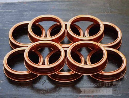 Copper bands / rings for regular mouth Mason jars and canning jars 10 pack
