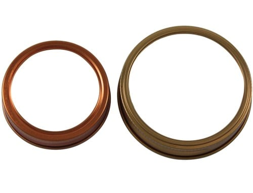 Copper bands rings for regular and wide mouth Mason jars