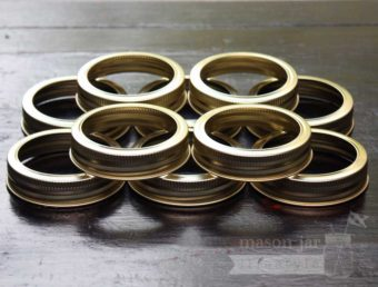 Gold bands / rings for regular mouth Mason jars and canning jars 10 pack