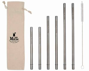 Mason Jar Lifestyle Combination pack safer stainless steel metal straws for Mason jars and other cups and glasses