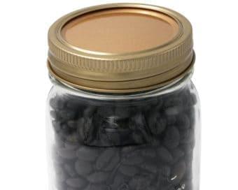 mason-jar-lifestyle-copper-flat-storage-lid-insert-and-band-regular-mouth-kerr-mason-pint-jar-coffee-beans