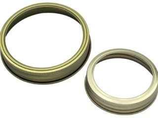 Mason Jar Lifestyle Gold bands / rings for regular and wide mouth Mason jars