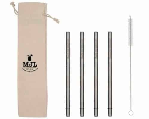 Mason Jar Lifestyle Medium safer stainless steel metal straws for pint 16oz Mason jars, pint glasses, and other medium cups