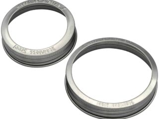 Mason Jar Lifestyle Rust proof stainless steel bands / rings with stamped logo for regular and wide mouth Mason jars