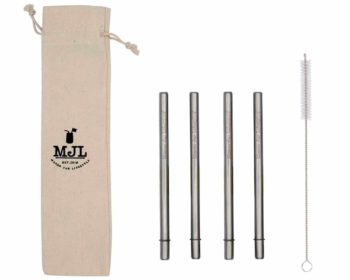 Mason Jar Lifestyle Short safer stainless steel metal straws for half pint 8oz Mason jars, kid cups, wine glasses, coffee mugs