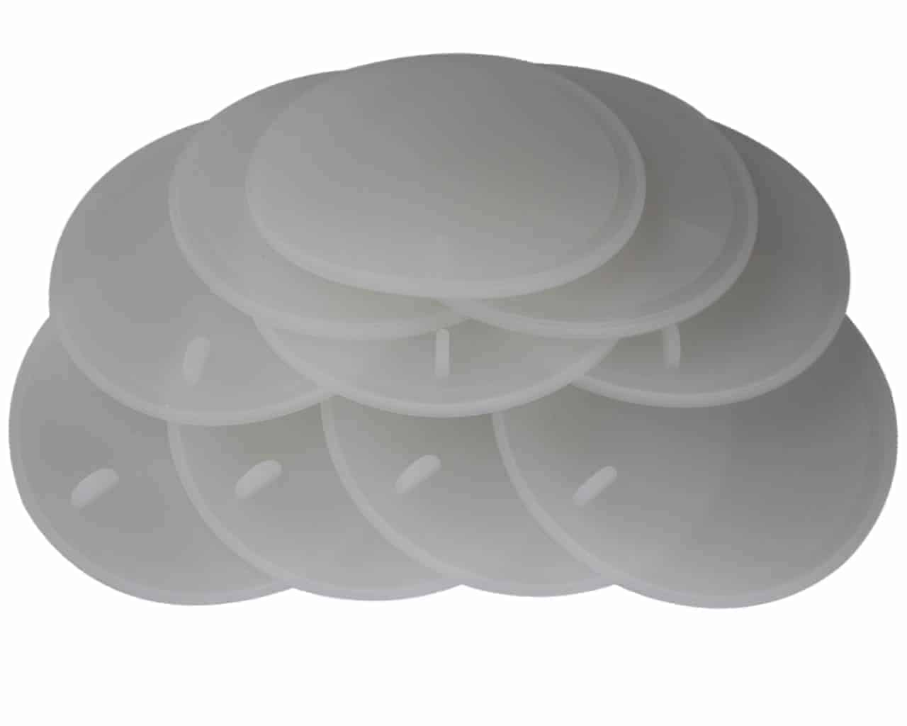 Platinum silicone sealing lid liners with tab for easy removal 10 pack