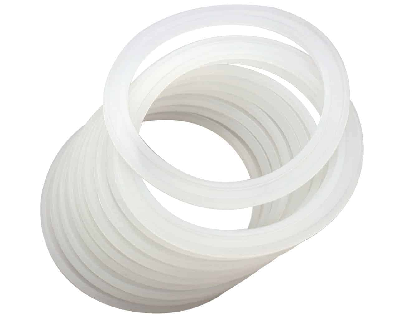 10 Pack Silicone Sealing Rings Gaskets for Leak Proof Mason Jar Lids Storage Cap