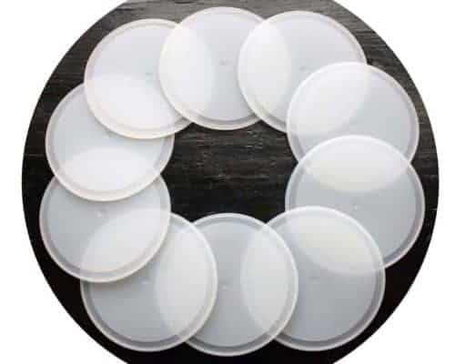 Silicone sealing lid liners for wide mouth Mason jar lids 10 pack