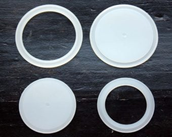 Silicone sealing rings and lid liners for regular and wide mouth Mason jar lids